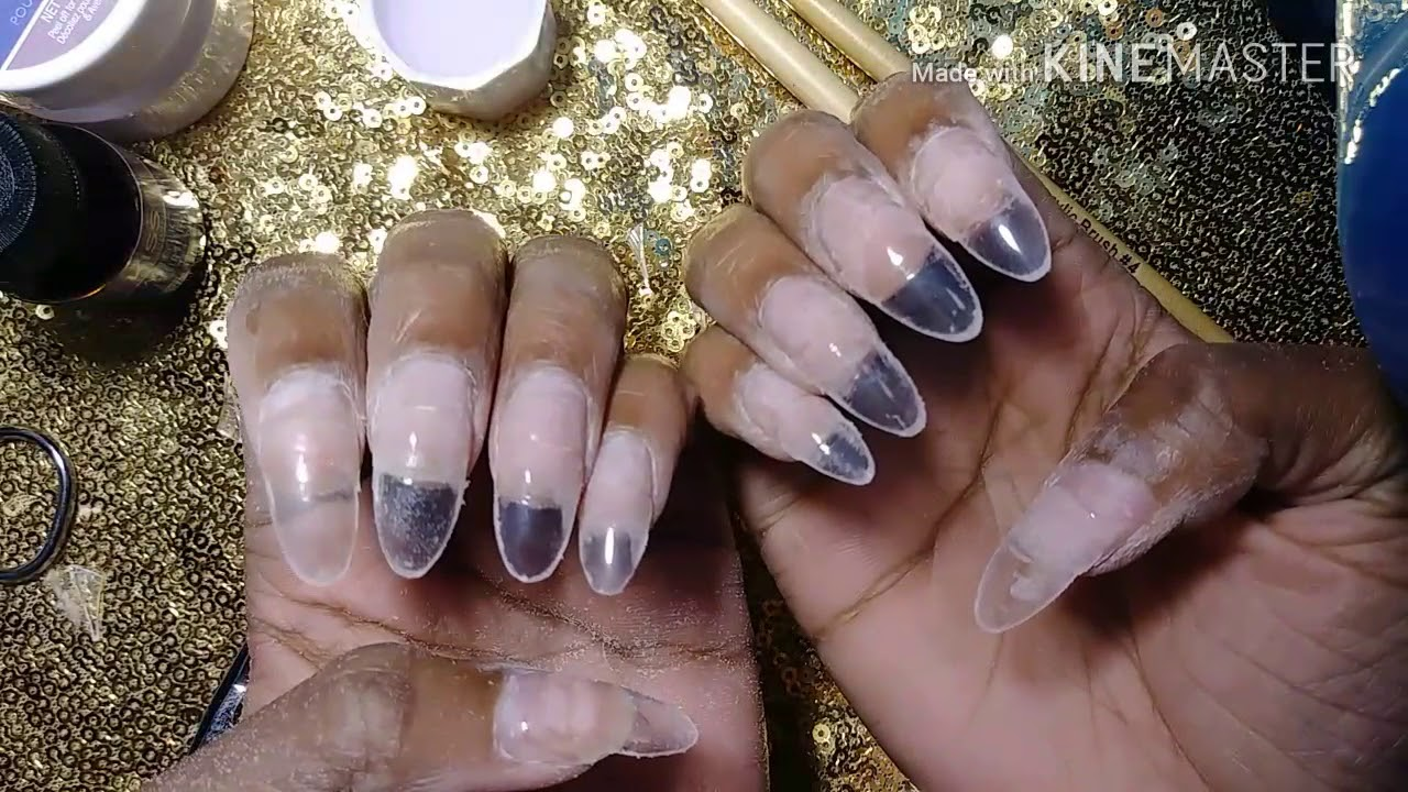 Beginner Kiss Acrylic Nails: Oval Shape - YouTube