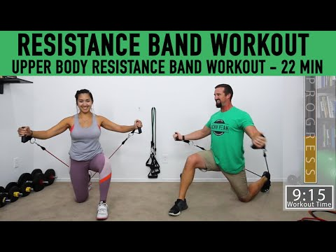 Upper Body Resistance Band workout At home workout with resistance bands 22 Minutes
