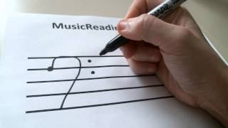 How To Draw A Bass Clef Sign