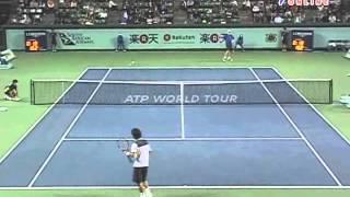楽天 OPEN 2009 1回戦 添田豪 VS トマス・ベルディハ