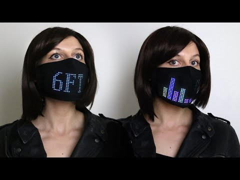 Face Mask Warns to Stay Away and Responds to Voice: DIY LED Wearable Tech Project