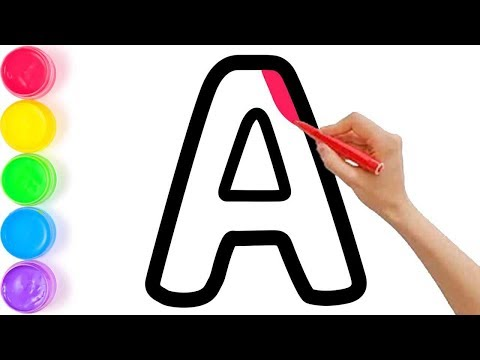 Pelajari Menggambar Dan Mewarnai Alfabet Untuk Anak Anak