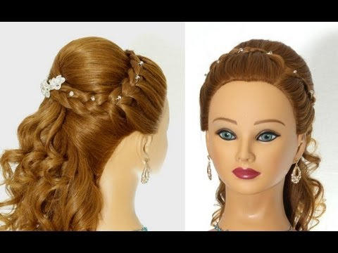 Wedding Prom Hairstyles For Long Hair Greek Goddess Hairstyle Youtube