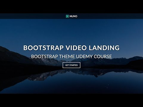 Create An HTML/CSS Website - Video Background Landing Page With HTML5, CSS3 & Bootstrap 4