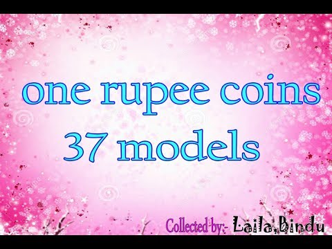 One rupee coins 37 models.