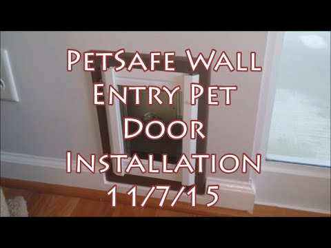 Petsafe Small Dogcat In Wall Pet Door Installation Youtube