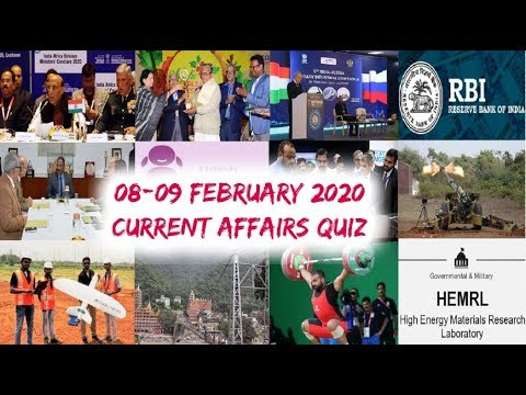Download Daily Current Affairs February 08-09 , 2020 : English MCQ   GKToday