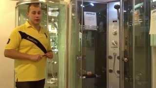 Душевая кабина с турецкой баней Appollo A-8059(www.appollo-info.ru прозрачное безопасное закаленное стекло толщиной 5мм, электронная панель управления, спинной..., 2014-08-14T14:15:45.000Z)