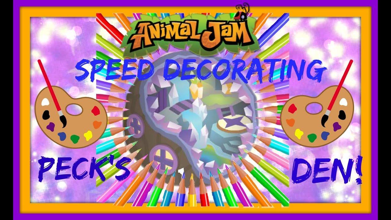 Download Animal Jam: Speed Decorating Peck's Den!