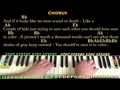 In Color (Jamey Johnson) Piano Cover Lesson with Chords/Lyrics