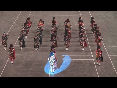 The 2016 Birmingham International Tattoo - Massed  Pipes  Drums & Highland Dancers