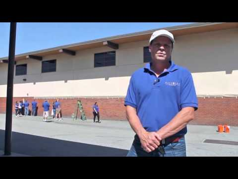 Waypoint Invests in Neighborhoods - Fontana Middle School Beautification