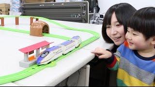 にぎやかアナウンス!サウンドE7系新幹線かがやきレールセットをひと足早く遊ばせてもらった thumbnail