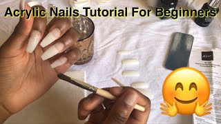 Acrylic Nails Tutorial For Beginners 💅🏾