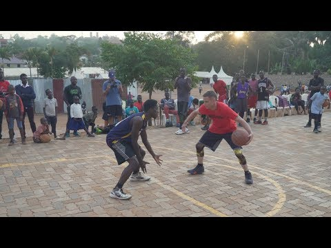 The Professor vs College Player in Africa(Uganda)... Gets crowd HYPE! But Gets stopped twice