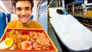 Living On Bento Boxes In Japan For 24 Hours: Shinkansen Bullet Train Experience!