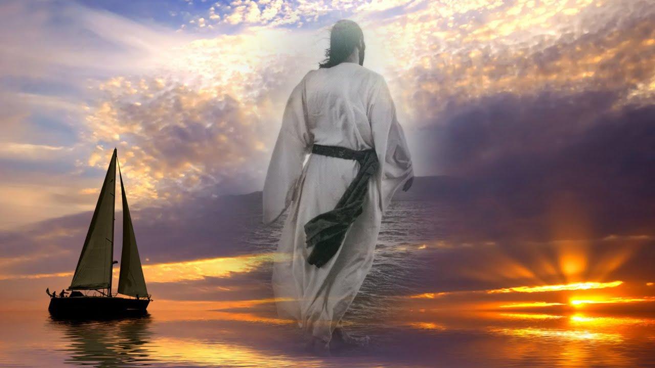 господь идущий по воде фотографии картина свидетельствует