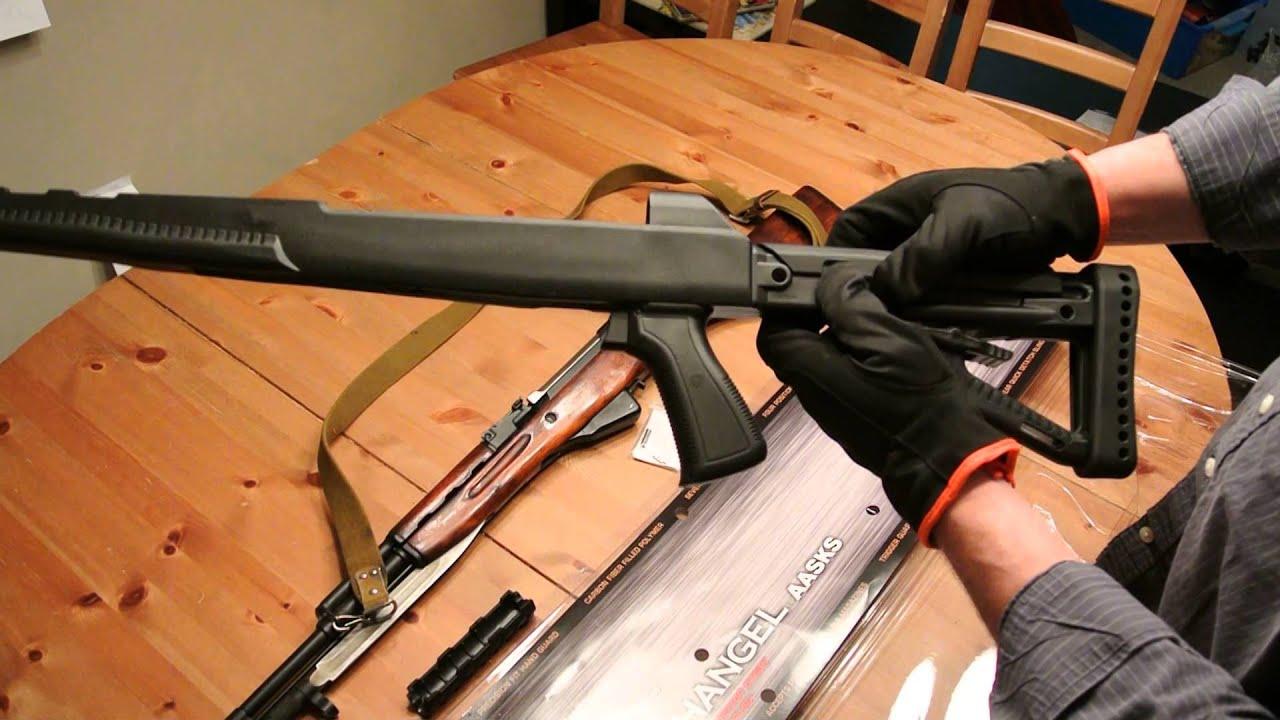 Загалом, необхідний пакет модернізації гвинтівки мосіна включає в себе: вироби крук: 1. Ложе (матеріал алюміній 7021) 2. Цівка (матеріал алюміній). На цівці розміщено посадкові місця для рейок пікатінні. В комплект входять 3 рейки довжиною 70мм та антабка для сошок harris. 3. Оптичний кронштейн.
