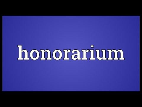 Header of honorarium