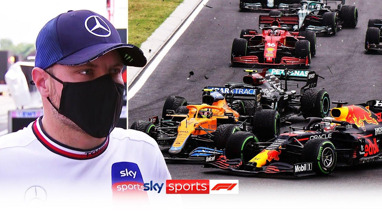 """I think I misjudged the braking point"" | Bottas takes blame for first corner crash"