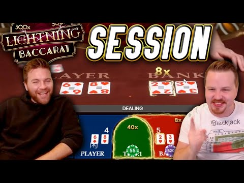 Lightning BACCARAT Session with BIG WINS!