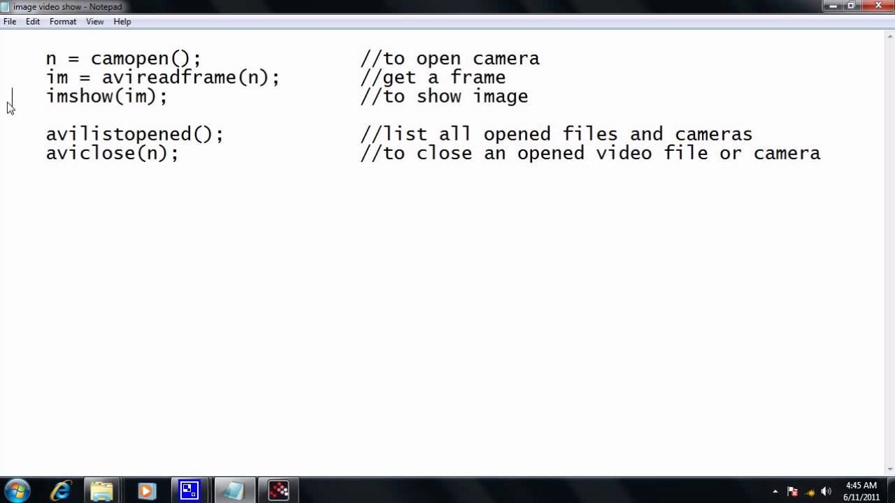 Image Capturing using USB Webcam in Scilab - YouTube