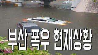 20170911 현재 부산 폭우로 침수난 상황