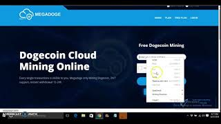 Earn 2k DogeCoin Daily | MegaDoge |  Free 1.5 DH/s - New Cloud Mining Site