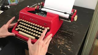 1956 Red Special Edition Royal Quiet De Luxe Typewriter