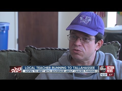 High school teacher walking to Tallahassee to raise awareness for cancer research