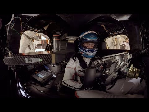 Watch a 360-degree video of the Porsche 919 hybrid whipping around Le Mans