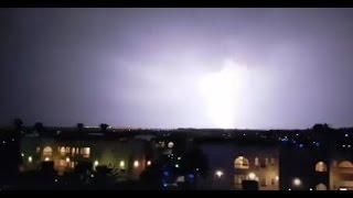 أخبار اليوم | هطول امطار رعدية غزيرة بمدينة الغردقة بالبحر الاحمر