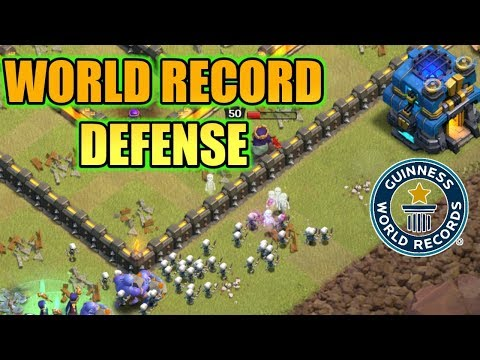 WORLD RECORD DEFENSE IN CLASH OF CLANS