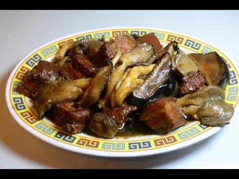 Stir Fry:  Pork Belly With 3 Kind of Mushrooms
