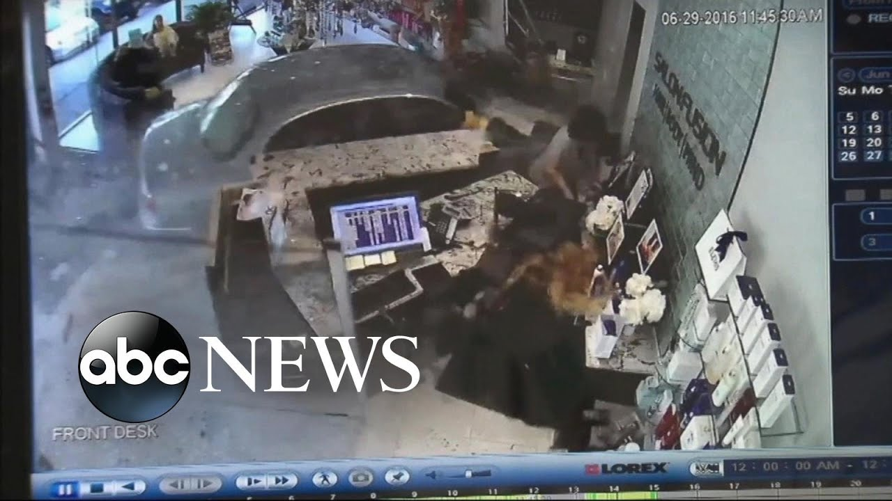 Car Crashes Into Beauty Salon | Video