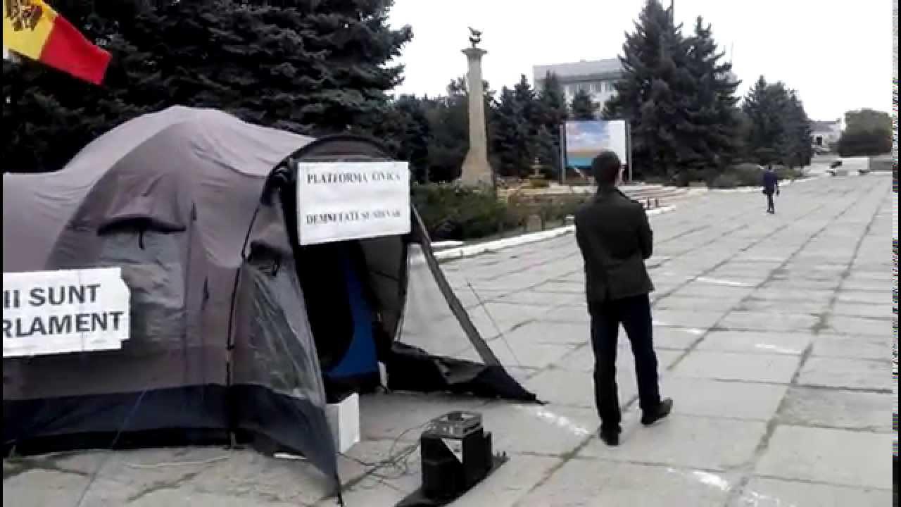 Și în Cahul au apărut corturi protestatare