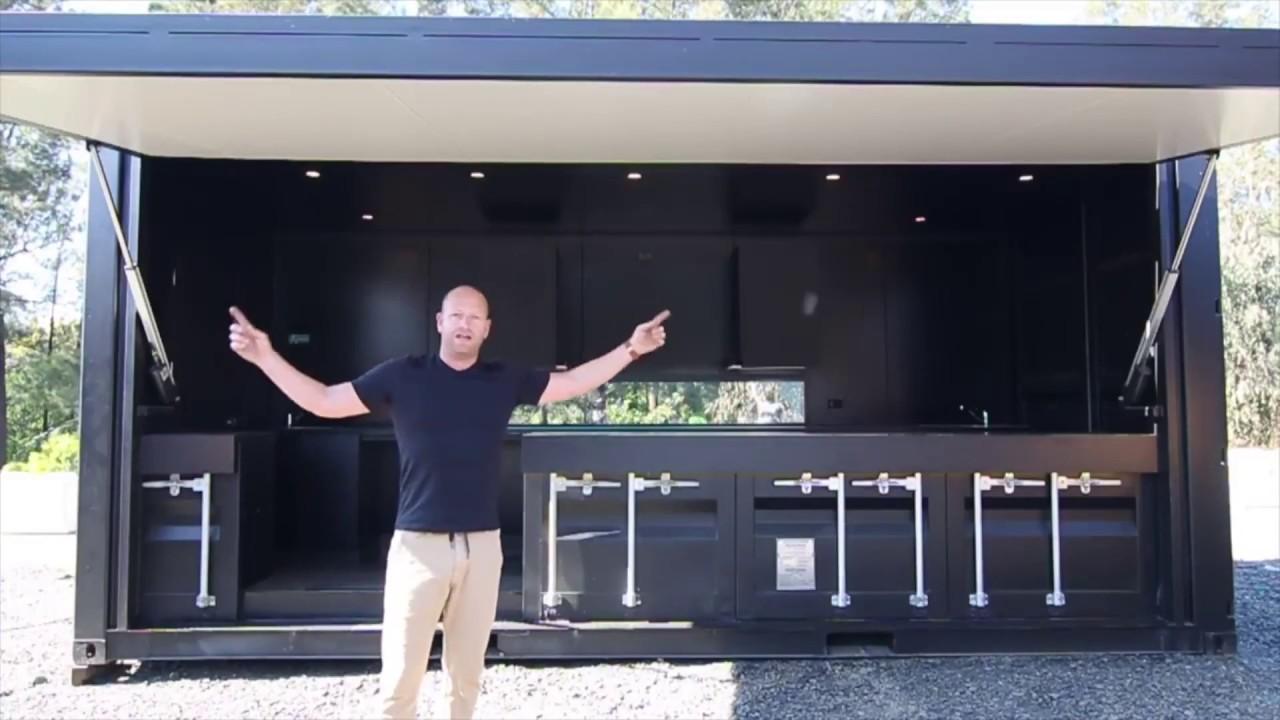 Стильный 40-ка футовый ДОМ контейнер - YouTube