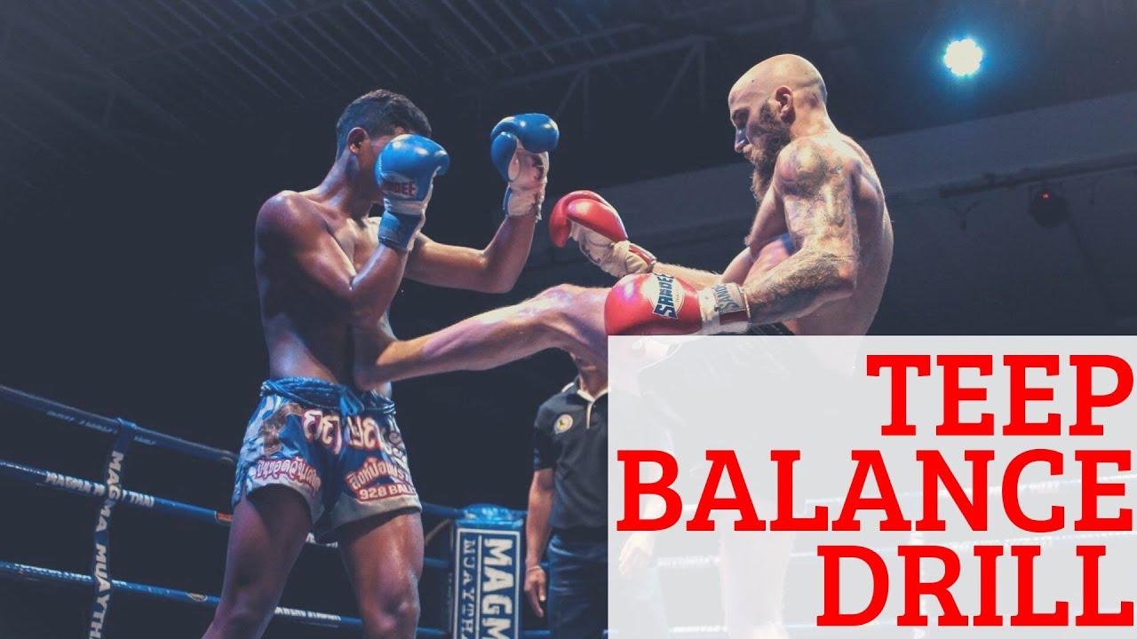 Muay Thai Heavy Bag Drill For Kicking Balance
