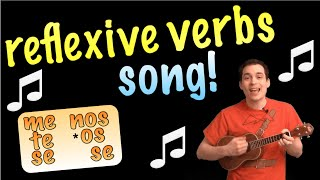 Reflexive Verbs Made Easy With A Song!  Spanish Lesson