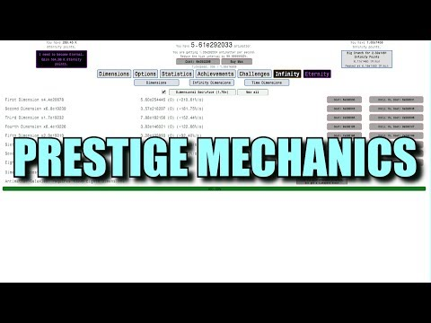Prestige mechanics in incremental games