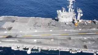 F-35C Completes First Arrested Landing aboard Aircraft Carrier #4