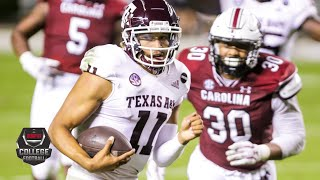Watch highlights from the sec as kellen mond, isaiah spiller and no. 7 texas a&m aggies are on road vs. south carolina gamecocks in week 10 of th...