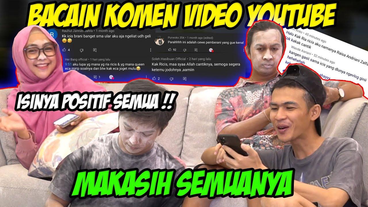 Random Baca Komen di Youtube Ricis. Makasih Ya, Hyung...