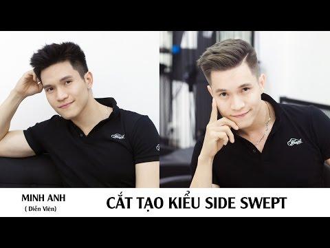 Cắt tạo kiểu Side Swept   Diễn viên Minh Anh