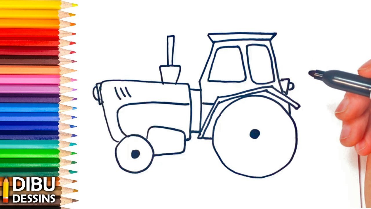 Comment Dessiner Un Tracteur Dessin De Tracteur Youtube