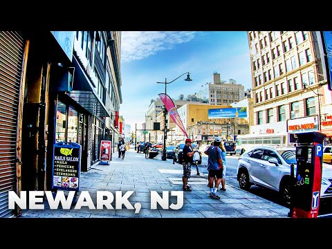 ⁴ᴷ Walking Tour Of Downtown Newark, New Jersey - Market Street, Broad Street, & Raymond Boulevard