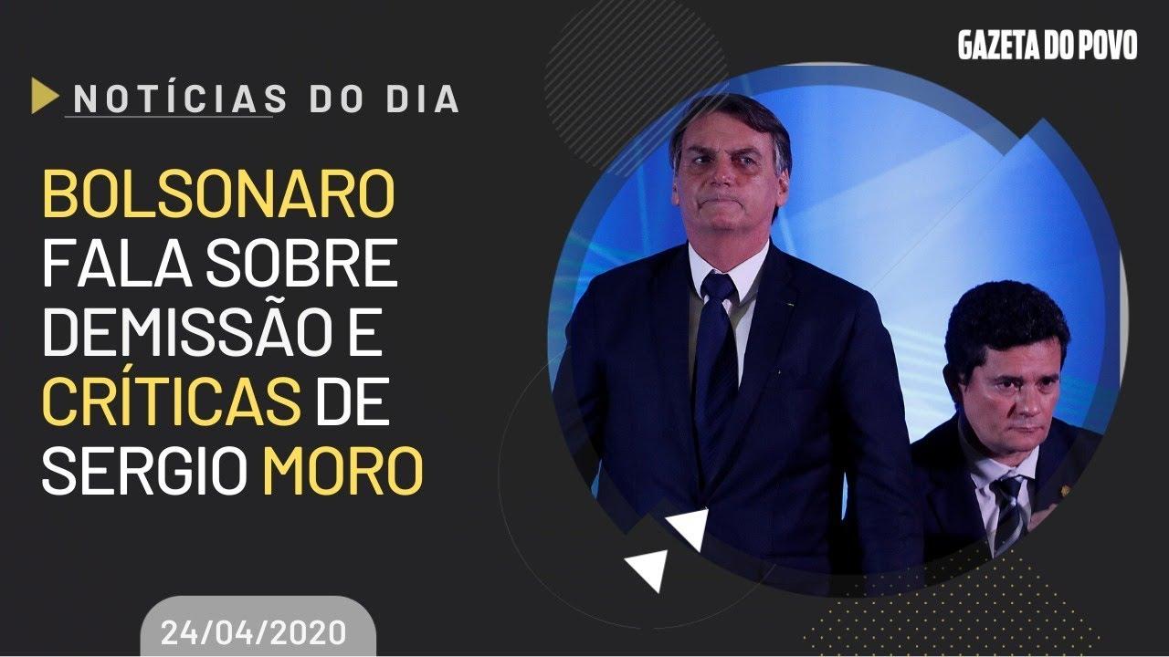 Ao vivo Bolsonaro fala sobre demissão e críticas de Sergio Moro