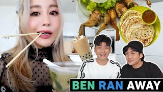 YouTubers decide what I eat for 24 hours ft. BenRanAway & Singaporean Food!