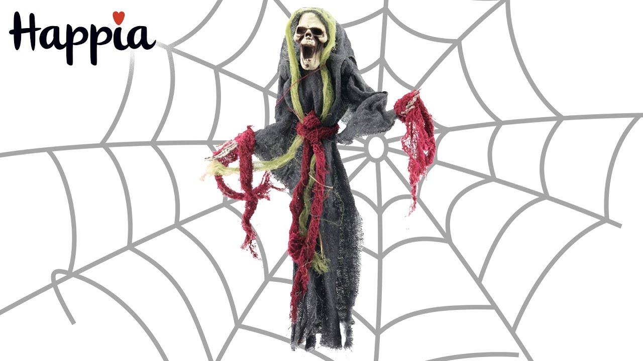 Кукла «Смерть» - украшение для Хэллоуина - YouTube