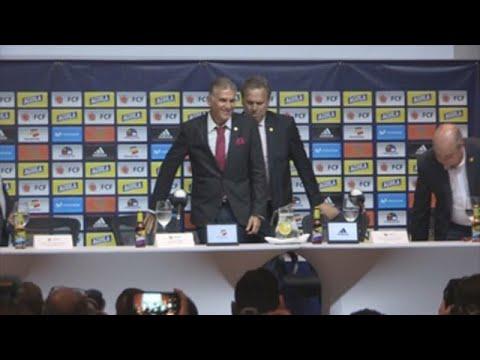 Carlos Queiroz es presentado como nuevo seleccionador de fútbol de Colombia